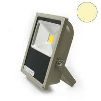 LED Fluter 50Watt, warmweiss, silber matt