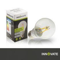LED Lampe Filament E27,Birne, 5W, 500 Lumen, 2800K warmweiß, dimmbar