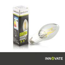 LED Lampe Filament E14, Kerze, 4W, 400 Lumen, 2800K warmweiß, dimmbar
