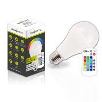 LED E27 RGB-Warmweiss LED Lampe, 10W Warmweiss und Farbwechsel, inklusive Fernbedienung