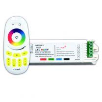 LED Streifen RGB/RGBW/RGBWW Controller 4 Zonen, inkl. Fernbedienung, 12-24V, 4x6A