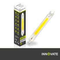 R7S LED Stableuchte 118mm - 650 Lumen - 3000K Warmweiß 75-100 Watt Ersatz Leuchtmittel Doppelende Lineare Reflektorlampe INNOVATE® (2 x 118mm R7s LED Leuchtmittel Warmweiß)