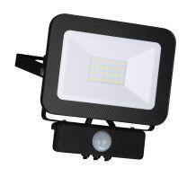 LED Fluter Strahler 20W mit Bewegungsssensor/Helligkeitssensor, warmweiss, schwarz, IP65